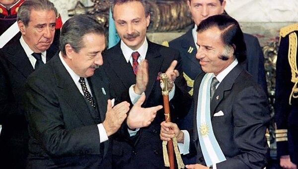 Raúl Alfonsín y Carlos Menem
