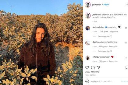 Una de las publicaciones donde el fotógrafo habla sobre Aislinn Derbez (Foto: captura de pantalla de Instagram @jeshderox)