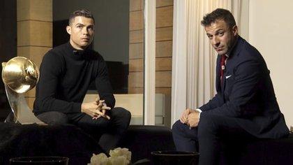 Cristiano Ronaldo concedió una entrevista a Alessandro Del Piero (Sky Italia)