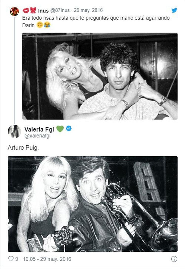 Una usuario mostró una foto de Arturo Puig con Susana Giménez, donde usa la misma ropa que en la foto con Darín (Instagram)