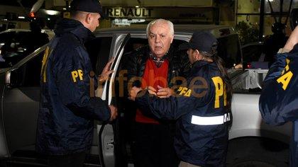 Herme Juárez en la Alcaidia de Drogas Peligrosas de la Policía Federal