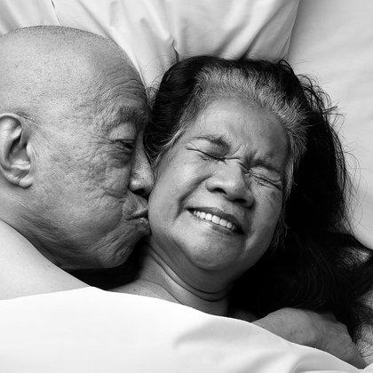 Una pareja en la cama. (Rankin/Relate)