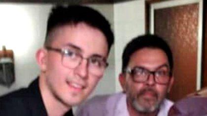 Claudio Fernández y su hijo
