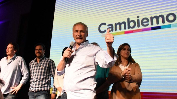 Córdoba: El candidato a Diputado Nacional por Cambiemos Héctor Baldassi festeja los resultados preliminares de las elecciones legislativas 2017