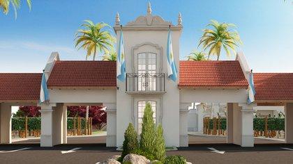 Así será la entrada del lugar, con una estética clásica de la provincia.