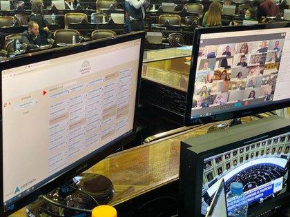 La plataforma elegida por la Cámara baja para sesionar de forma virtual fue Webex.