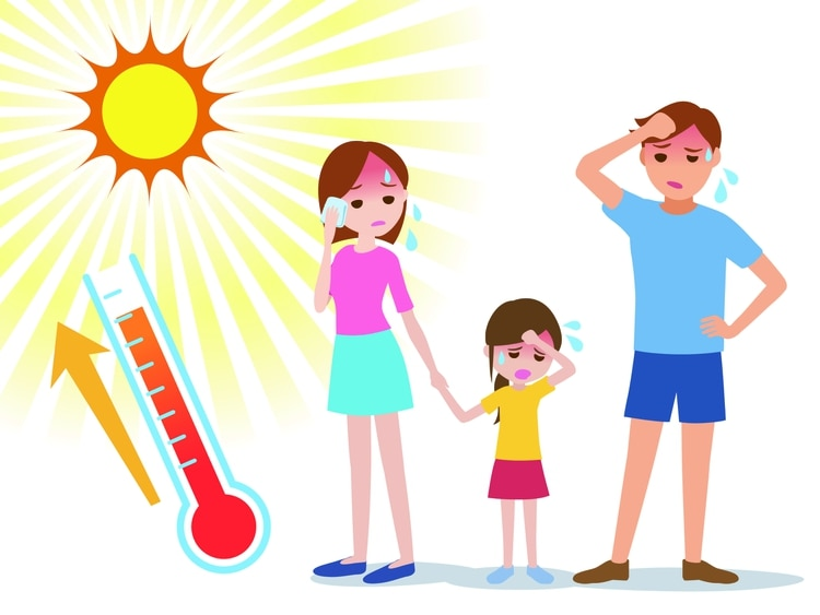 Según el Ministerio de Salud, es importante estar alerta a los síntomas y se debe consultar al médico y tomar conductas activas. El agotamiento por calor es un estadio previo al golpe de calor y hay que reconocerlo para prevenir una situación mas grave (Shutterstock)