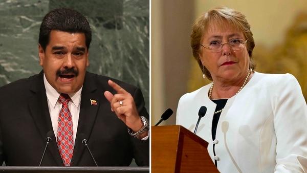 Nicolás Maduro y Michelle Bachelet