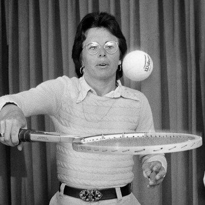 Billie Jean King es una de las jugadoras históricas en el tenis. (Foto: Archivo)