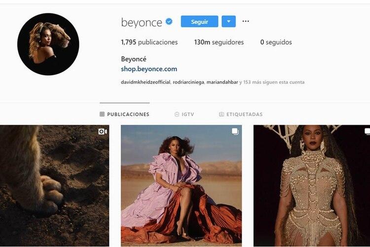 Beyoncé se encuentra en séptimo lugar de acuerdo con la página HopperHQ (Foto: Instafgram)