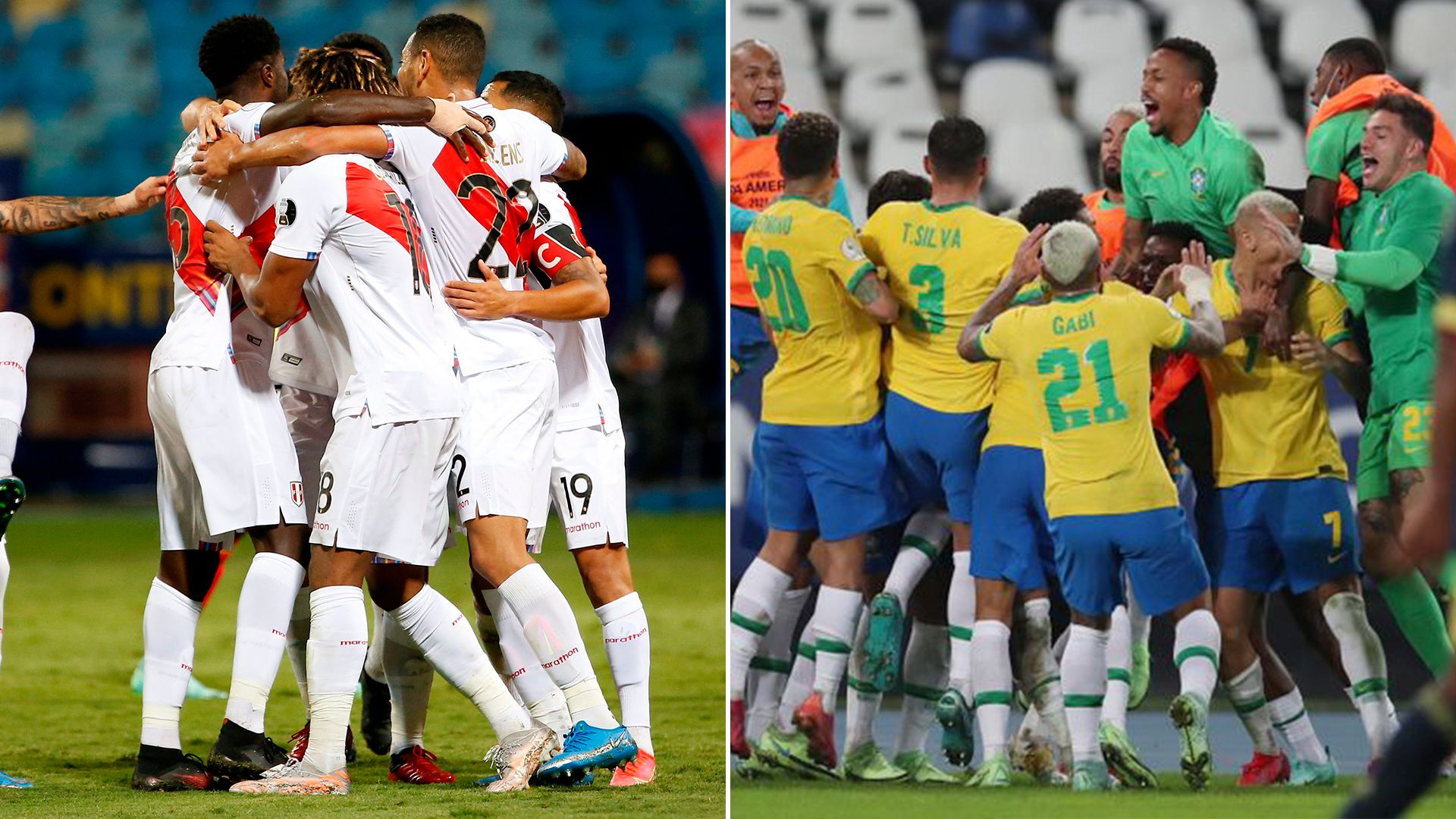 Copa América - Posibles Semifinales (Perú vs Chile - Perú vs Brasil)
