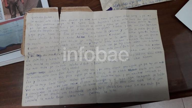 La carta que Jorge Ludueña le escribió a su familia y nunca llegó a enviar