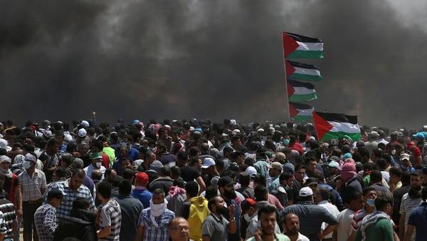 Los disturbios del lunes en Gaza (Reuters)