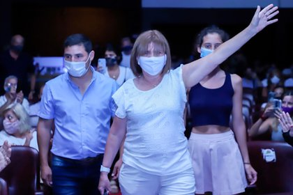 Bullrich entered the room of the Corrientes Theater at 17