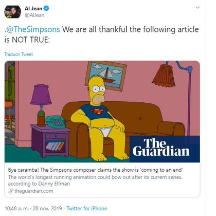 Los comentarios de Jean fueron celebrados por los espectadores de los Simpsons. (Foto: captura de pantalla)