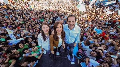 El intendente de Escobar junto a la vicepresidenta Cristina Kirchner