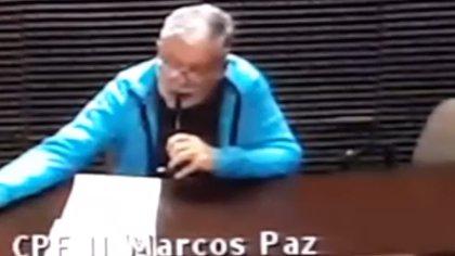 De Vido en una videconferencia judicial desde el penal