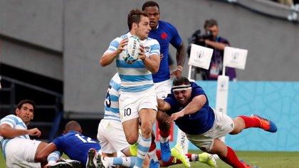 Sánchez, en acción en el debut de Los Pumas ante Francia, en el Mundial de Japón (foto: REUTERS/Matthew Childs)