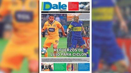 Ortigoza y Clemente Rodríguez fueron tapa del diario Dale de Tarija