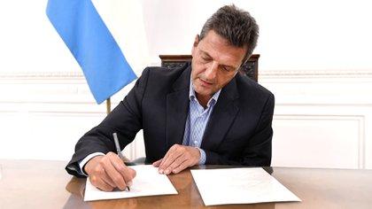 El presidente de la cámara de Diputados, Sergio Massa, es uno de los interlocutores de Guzmán en el Gobierno, a partir de su experiencia como negociador con los acreedores cuando era jefe de gabinete de Cristina Kirchner