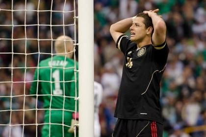 Chicharito Hernández ha sido fuertemente criticado por comentaristas deportivos. (Foto: Misael Valtierra/Cuartoscuro)