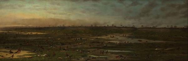 """""""Después de la Batalla de Curupaytí"""", de Cándido López. 1893"""