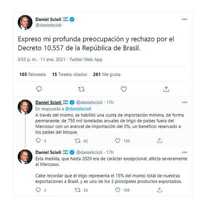 Los tuits del embajador Scioli