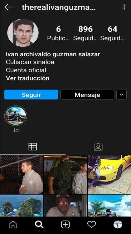 La nueva cuenta que usa el nombre del hijo del Chapo (Foto: Captura de pantalla)
