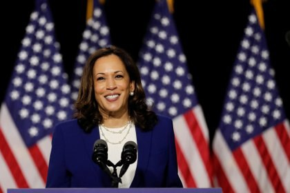 La candidata a vicepresidente del partido demócrata, Kamala Harris. Foto: REUTERS/Carlos Barria