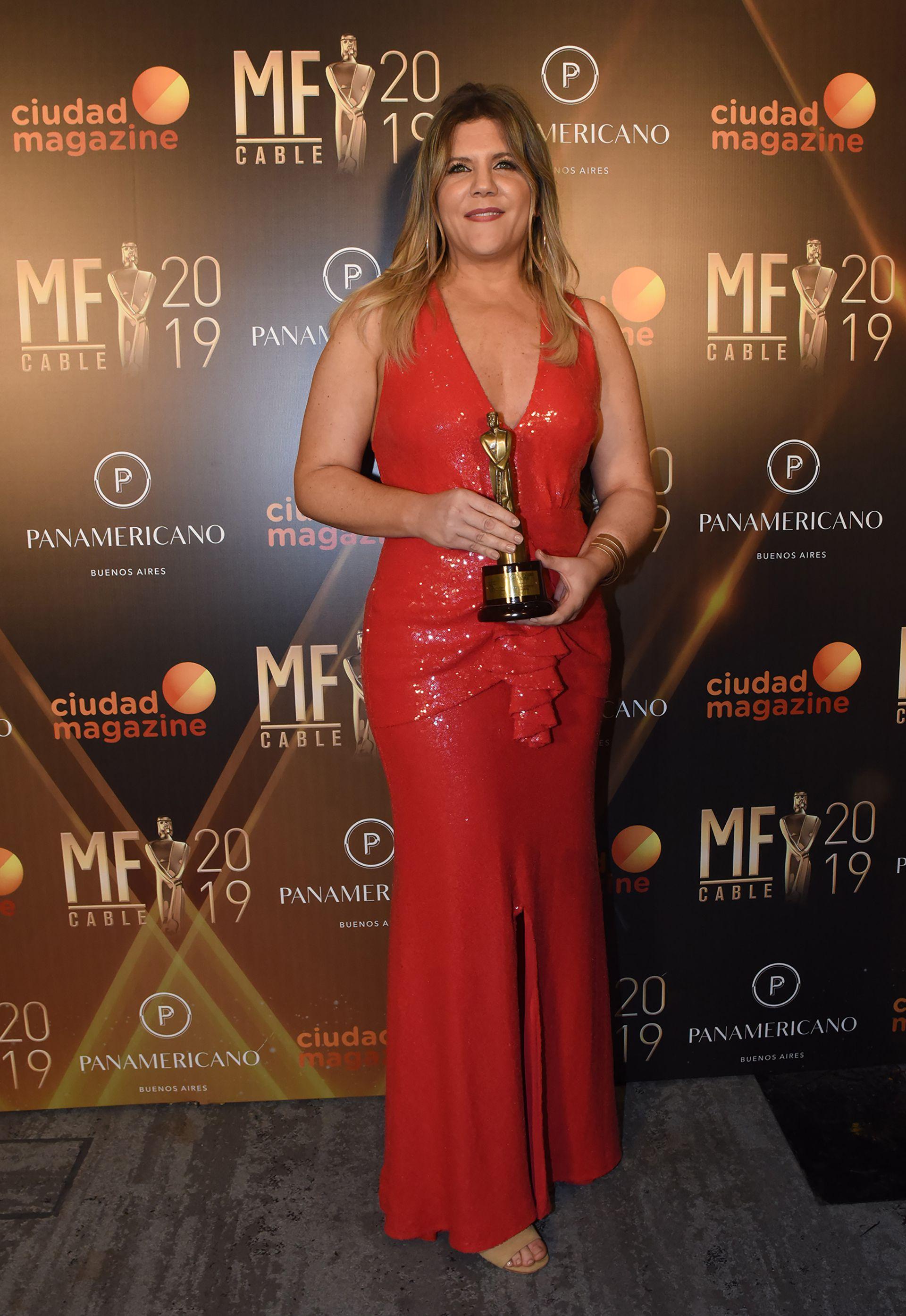 Dominique Metzger fue reconocida por la mejor labor periodística femenina
