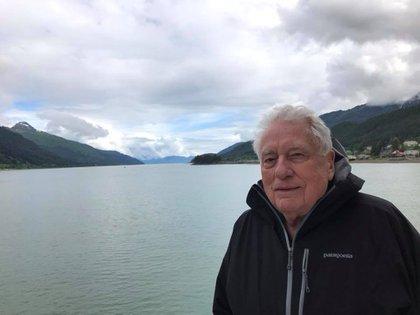 Clint Hill durante unas vacaciones en Alaska en julio pasado
