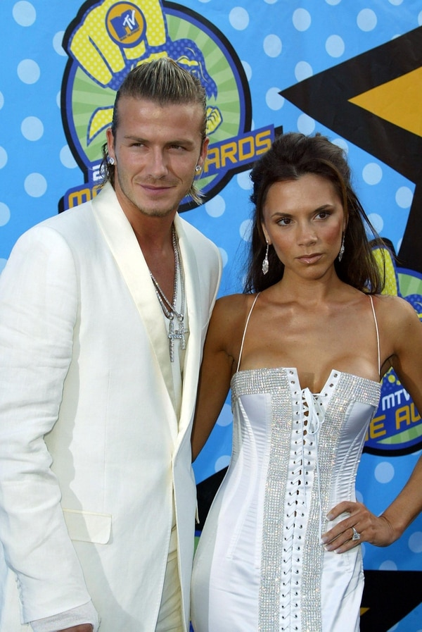 David Beckham y Victoria en los MTV Movie Awards en 2003