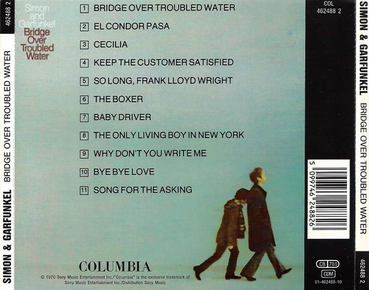 En formato CD, la contratapa del disco