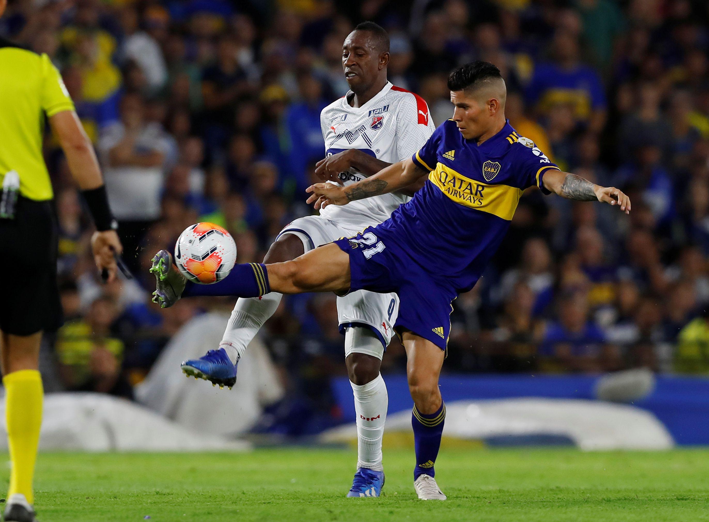 Boca enfrentará esta noche a DIM por la cuarta fecha de la fase de grupos de la Copa Libertadores. Si el Xeneize gana, quedará muy cerca de adueñarse de un boleto a los octavos de final (REUTERS/Agustin Marcarian)