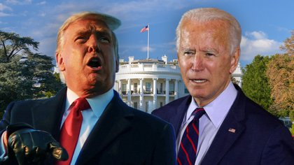 Donald Trump y Joe Biden representan propuestas completamente diferentes para conducir los destinos de la mayor potencia mundial: Estados Unidos (Infobae)