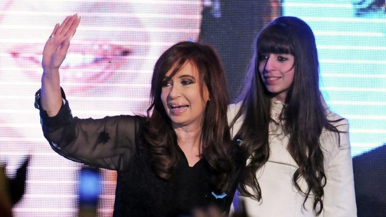 Cristina Kirchner junto a su hija Florencia (foto NA)