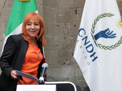 La titular de la CNDNH, Rosario Piedra Ibarra, defendió este fideicomiso (Foto: EFE José Pazos)