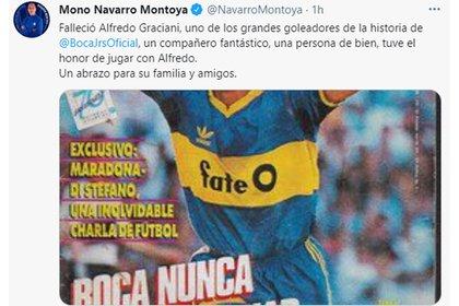 Navarro Montoya recordó a su ex compañero