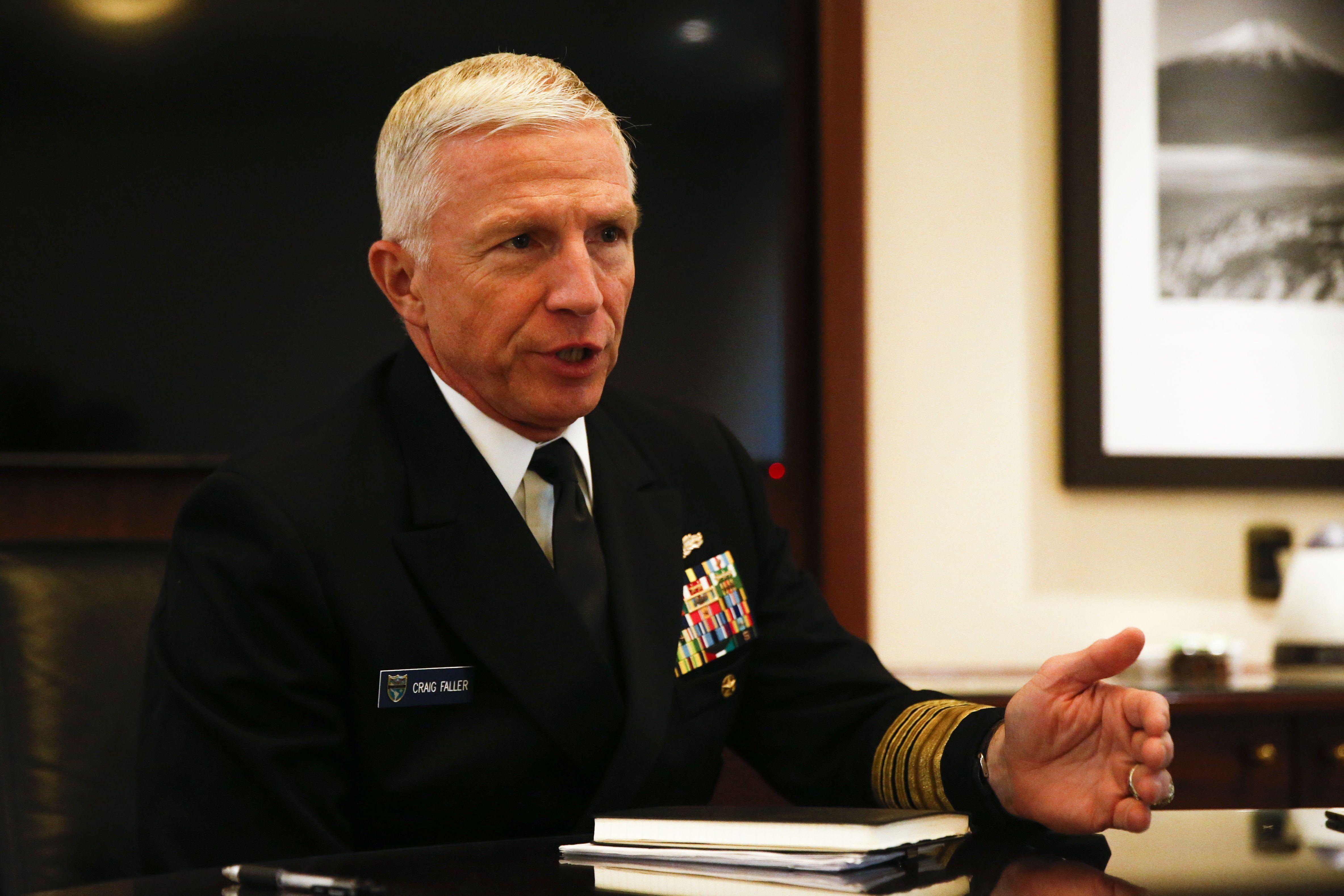 Fotografía de archivo del almirante Craig Faller, comandante del Mando Sur de las Fuerzas Armadas (SouthCom). EFE/Alberto Peña/Archivo