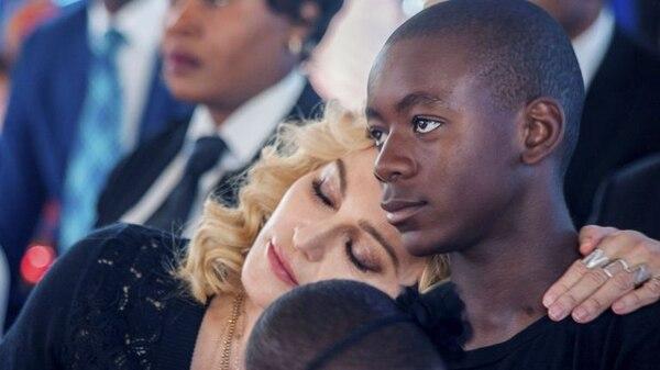 Madonna y su hijo David.