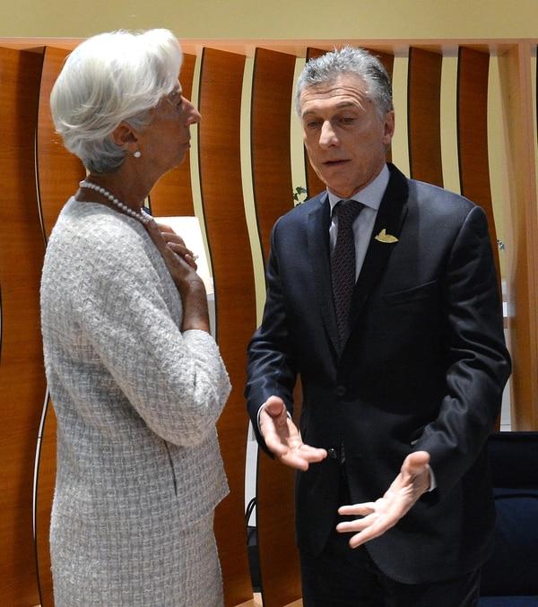 Macri y Lagarde (Presidencia)
