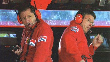 Jean Todt (Izq.) y Ross Brawn (Der.) fueron claves en la época dorada de Ferrari (Archivo CORSA).