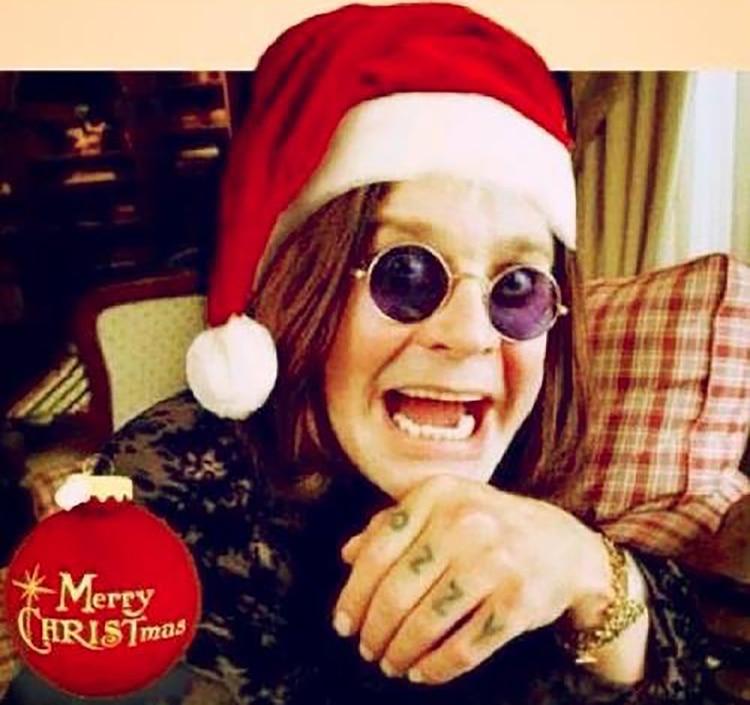 Ozzy Osbourne y su saludo especial en Navidad (Facebook)