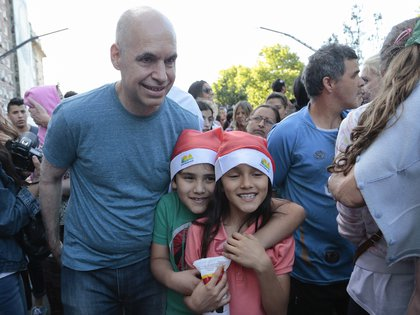 El jefe de gobierno Horacio Rodríguez Larreta estuvo presente en el desfile