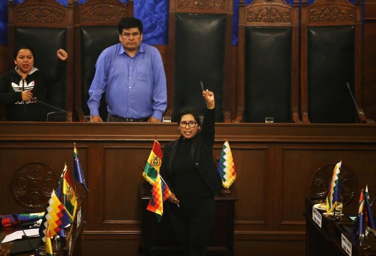 La presidenta del Senado Eva Copa Murga (REUTERS/Luisa Gonzalez)