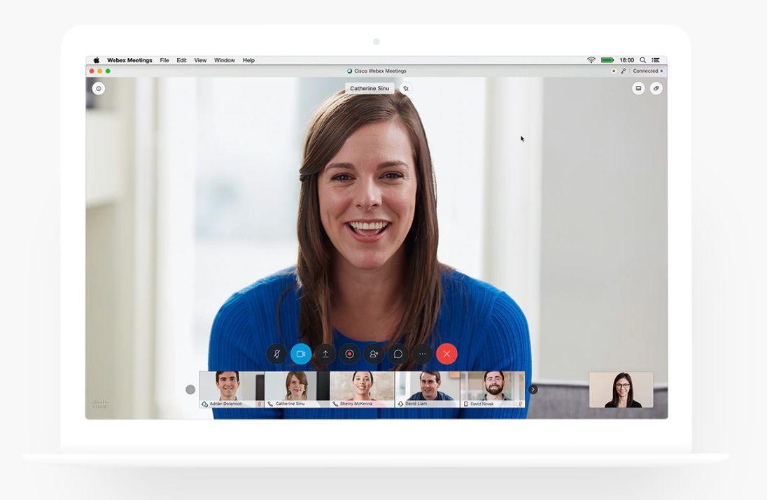 Dentro del portfolio está Webex Meetings, una plataforma para hacer videollamadas
