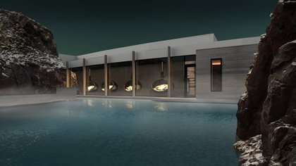 The Retreat en la Laguna Azul en Islandia fue diseñado por Basalt Architects (Iceland Luxury)