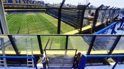 Se removió el blindex de la tercera bandeja Sur en la Bombonera: se buscó optimizar la visual del hincha