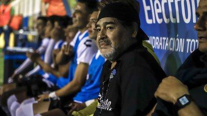 Maradona, de 58 años, llevó a Dorados a dos finales en el torneo de Ascenso MX (Foto: RASHIDE FRIAS / AFP)