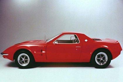El Mustang Mach II, exhibido un año más tarde, en el 67.